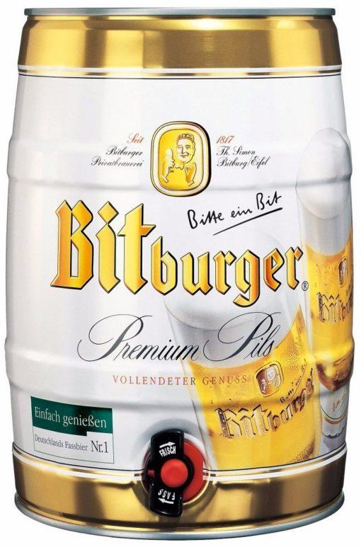 Cerveza Bitburger Barril 5 Litros