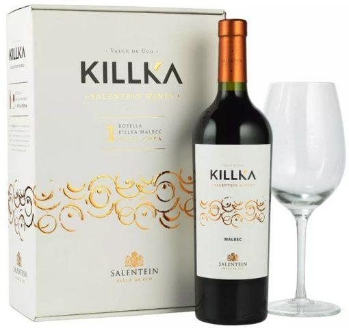 Killka Malbec Estuche con una copa