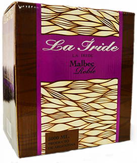 La Iride Bag in Box 5 litros Malbec Roble