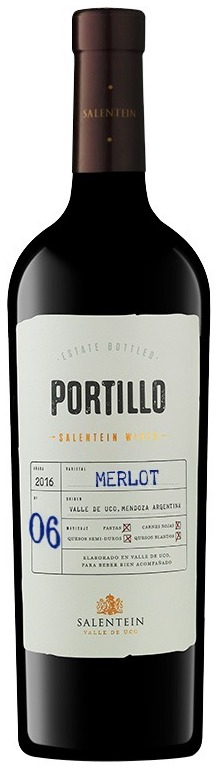 vino tinto portillo merlot botella 750ml - Catar Bebidas