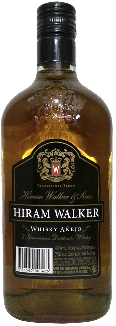 Whisky Hiram Walker Etiqueta Negra 750ml